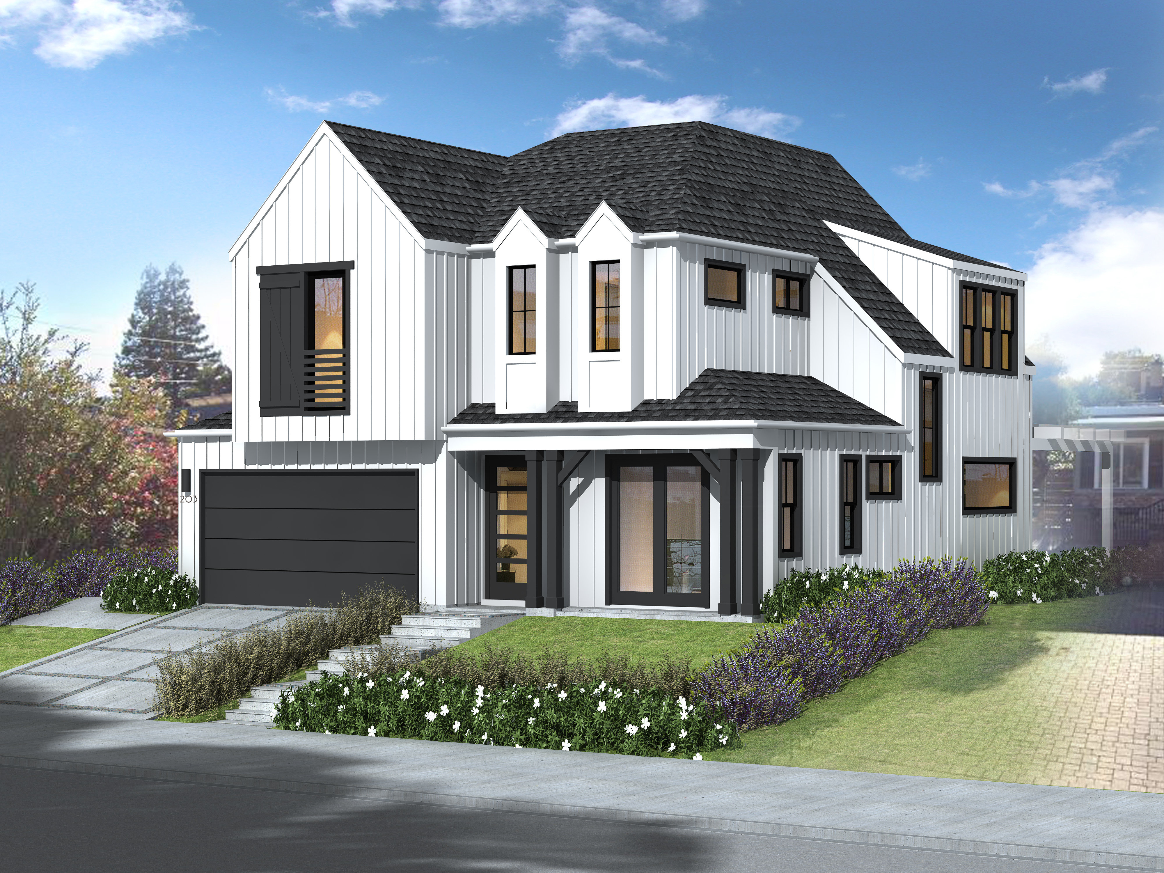203 LELAND Rendering Side 10.28.20